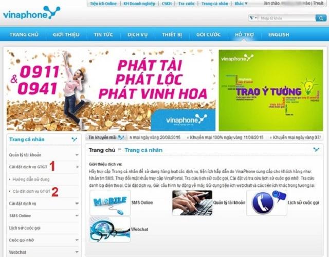 Kiểm tra dịch vụ bằng cách truy cập vào cổng ứng dụng Vinaportal